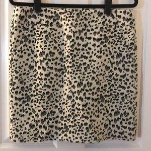 Loft animal print skirt sz M